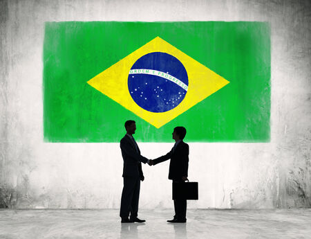 two people meeting: Business strategic planning in Brazil.