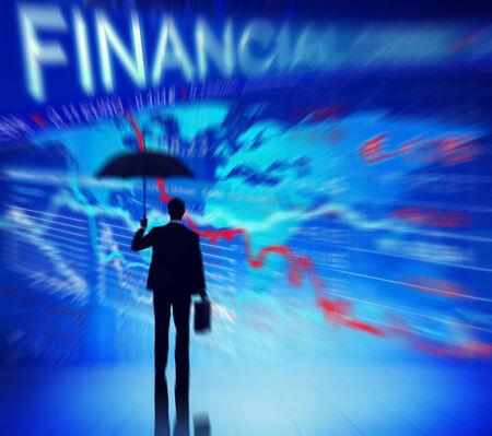 financiele crisis: Businessman Currency Financial Crisis Concepts