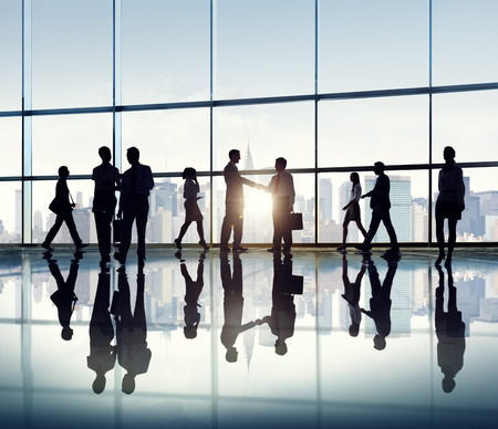 back lit: Group of Business People in Back Lit