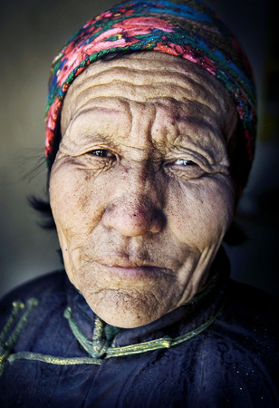 independent mongolia: Mongolian woman in traditional dress.