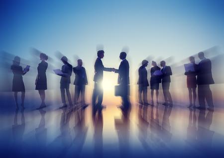 reuniones empresariales: Gente de negocios de Nueva York para reuniones al aire Concept Foto de archivo