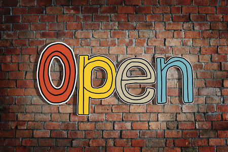 unclosed: Open and Brick Wall in the Background