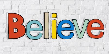 obedecer: Creer en la Palabra y en la pared de ladrillo de fondo