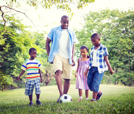 sports and recreation: Family Bonding Recreation Sports Football Concept