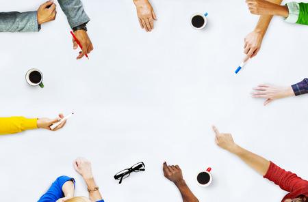 Groep Mensen Planning aan een nieuw project