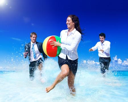 ビジネスの人々 は、休暇を楽しんでします。