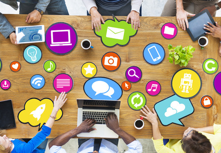 information age: Diverse People Connecting With Social Media