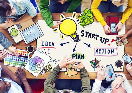 Mensen die van plan in een conferentie en Innovatie Concept Stockfoto