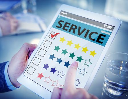 Klant Toplijst een online service Kwaliteit Stockfoto