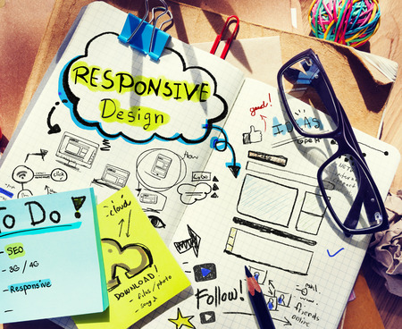 Designers Desk with Responsive Design Concept
