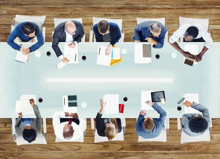 asian business people: Business People Having a Meeting in the Office Stock Photo