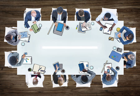 Group of People in a Meeting Photo Illustration illustration