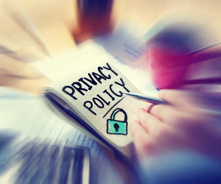 Businessman Working Security Privacy Policy Concept photo