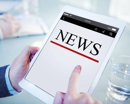 디지털 온라인 뉴스 헤드 라인 업데이트 개념