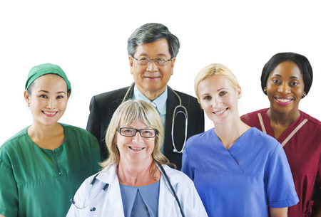 Group of Diverse Multiethnic Medical People