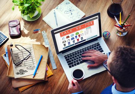 디지털 온라인 마케팅 상거래 판매 개념 스톡 콘텐츠