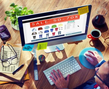 commerce: Digital Online Marketing Commerce Sale Concept