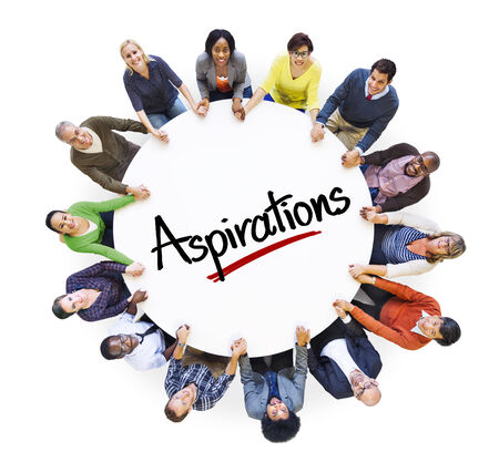 People Social Networking and Aspirations Concept Stock Photo