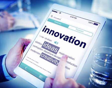 modernization: Digital Dictionary Innovation Ideas Creativity Concept