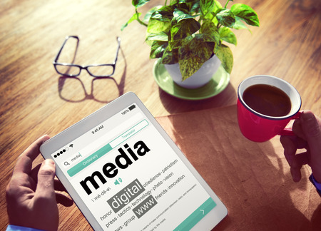 place to learn: media on a tablet device concept
