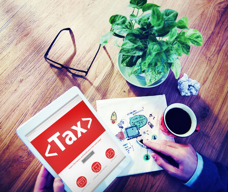 place of research: Digital Online Tax Payment Policy Office Concept Stock Photo