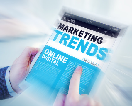 marketing concept: Marketing Trends Online Digital Concepts Stock Photo