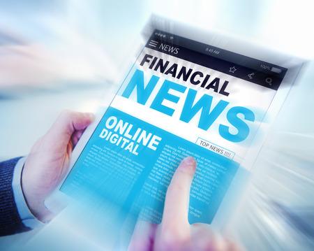 news update: Digital Online Update Financial News Concept