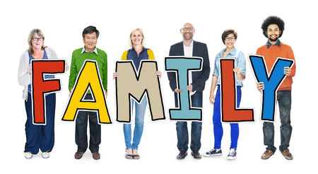 Group of People Holding Letter Family Concepts