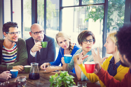 Groep mensen op Koffiepauze