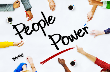 people power: Multiethnic People Discussing About People Power