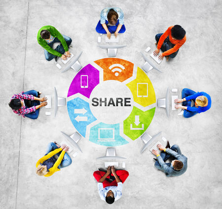 american downloads: People Social Networking and Sharing Concept