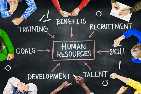 human development: Group of People and Human Resoures Concept