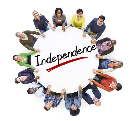 Aerial View of People and Independence Concepts photo
