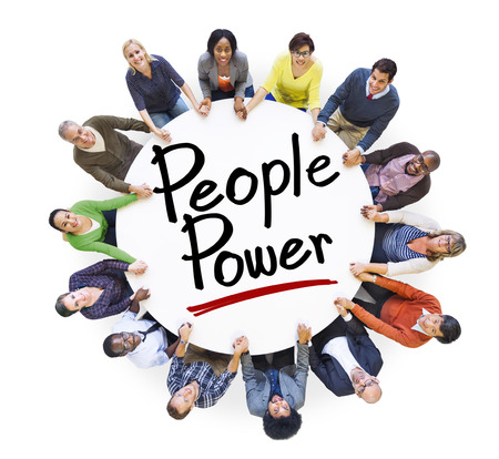people power: Group of People Holding Hands Around People Power
