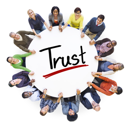 trust people: Diverse People Holding Hands Trust Concept Stock Photo