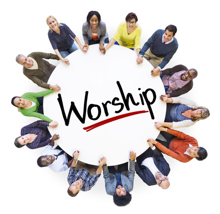 african worship: Diverse People Holding Hands Worship Concept