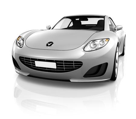 motor coche: Coche deportivo en un fondo blanco.