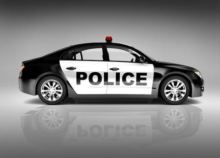 speed car: 3D police car Stock Photo