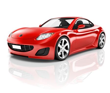 빨간 스포츠 차 스톡 콘텐츠