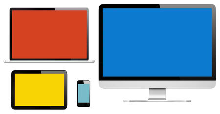 Collection of Three Dimensional Digital Devices photo