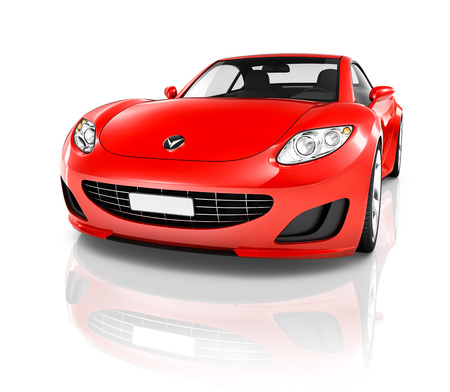 Red Sport Car Фото со стока - 34403733