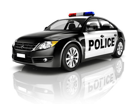 Politie-auto Stockfoto