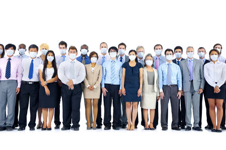 large group of business people: Large Group of Business People Keeping Silence Stock Photo