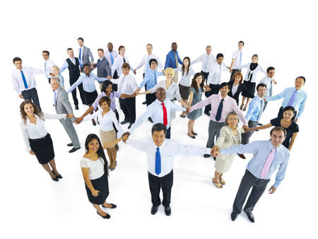 large group of business people: Large Group of Business People Holding Hand Stock Photo