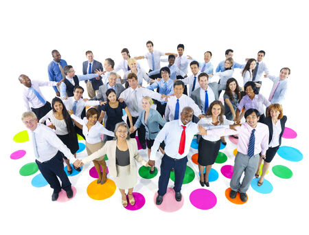 holding  hand: Large Group of Business People Holding Hand Stock Photo