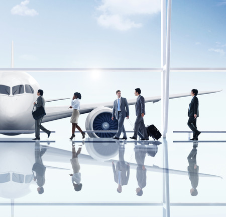 Affärsmän Travel Airport Koncept