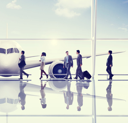 airport business: Business People Travel Airport Concept