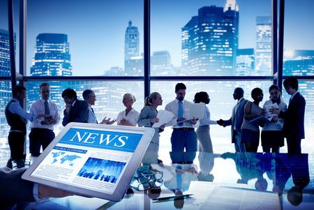 Groep Mensen Discussie in Meeting Nieuws Stockfoto
