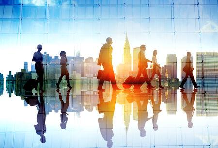 persona viajando: Silueta Reuni�n Gente Paisaje urbano Team Concept