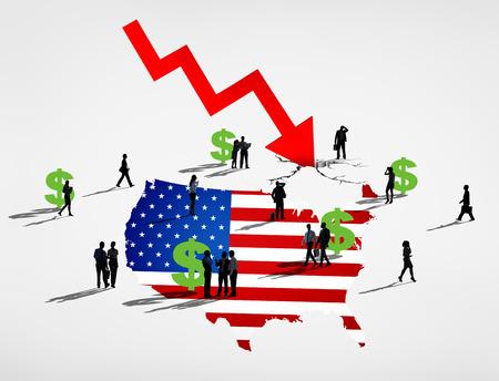 recession: America Recession Stock Photo